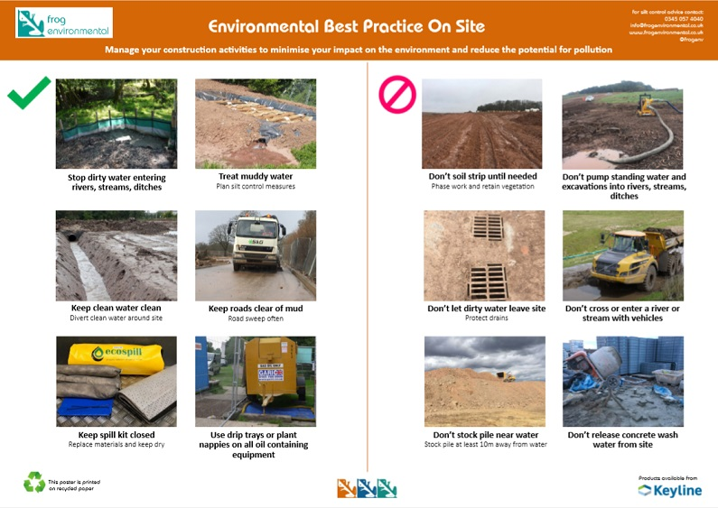 Silt best practice on site poster