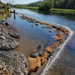 Bubble Tubing® provides silt control on the River Derwent, a bank reinstatement project