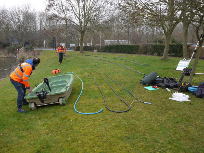 A small works team installed the Bubble Tubing in one day